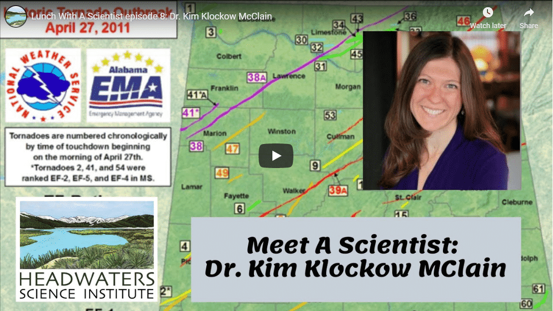 Lunch With A Scientist: Dr. Kim Klockow McClain