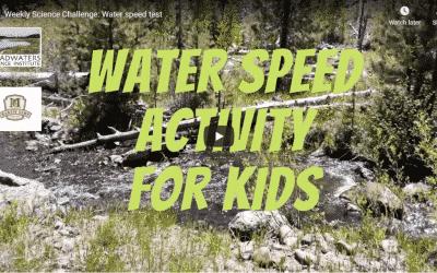 Science Challenge: Water Speed Test