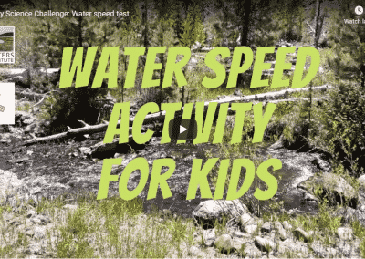 Science Challenge: Water Speed Test