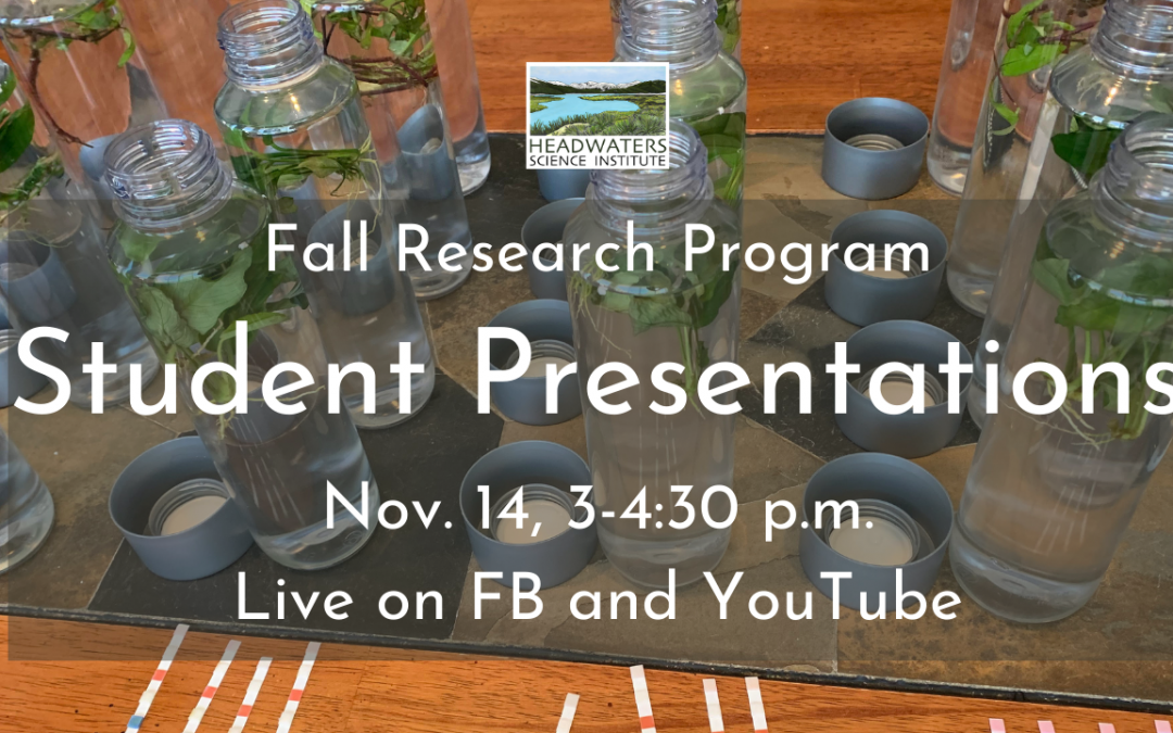 Join us for student research presentations Saturday 11/14!