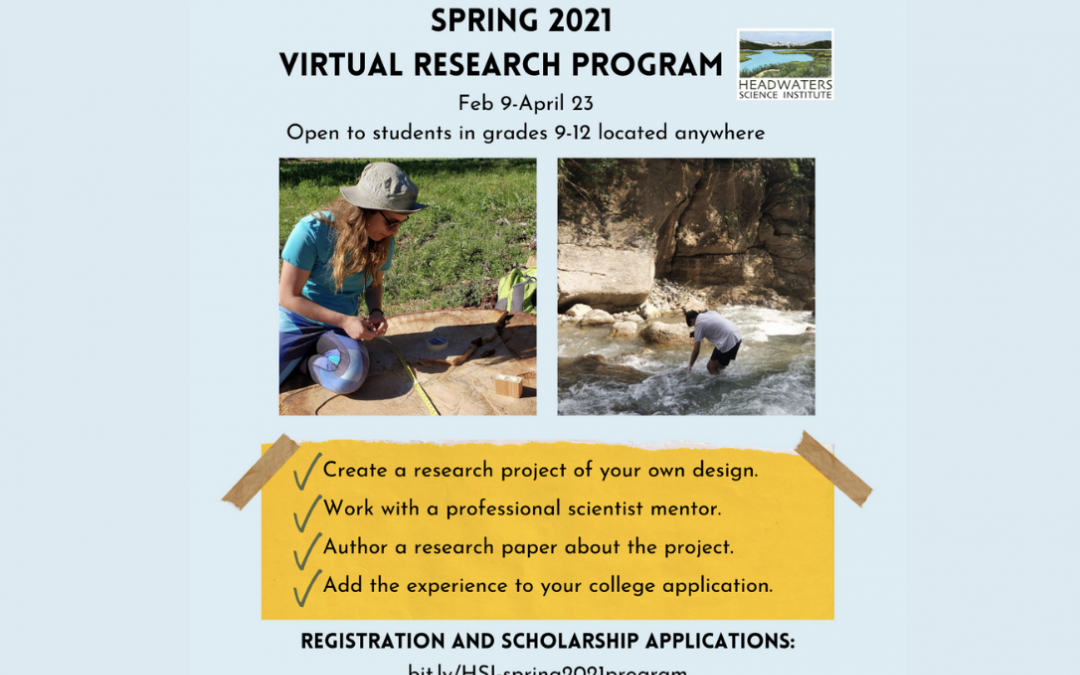 Announcing: Headwaters' Spring 2021 Online Research Program